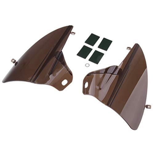 Homyl 1 Par Deflectores de Aire de Saddle Shield Plasticó Facíl Instalación...