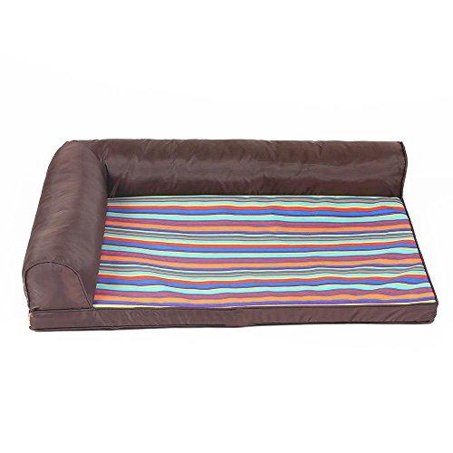 Daeou hundematten Waschbare Zwinger Hund Bett Vier Jahreszeiten General Dog Welpen Pet Sofa Antihaft-Oxford Tuch + Tasche Tuch (Luxuriöse Bett-tasche)