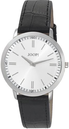 Joop  Tendencies Swiss Made - Reloj de cuarzo para hombre, con correa de cuero, color negro