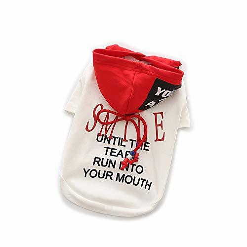 LNLW Haustierkleidung Frühling und Sommer Kapuzenpulli Hund T-Shirt Quick Dry Soft Vest Puppy (Farbe : White, Size : - Quick Hunde Kostüm