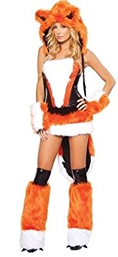 harrowandsmith Damen Orange Fancy Dress Halloween Erwachsene Kostüm Sexy Fox für Frauen Tier Thema Fantasia Fancy Kleid, UK (Uk Themen Kostüme)