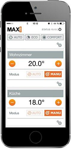 komforthaus MAX! Heizkörperthermostat Set für 3 Räume, Pro Version mit stabiler Metallmutter