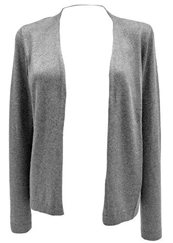 TOM TAILOR - Gilet - Cardigan - Manches Longues - Femme grau (grey 2527)
