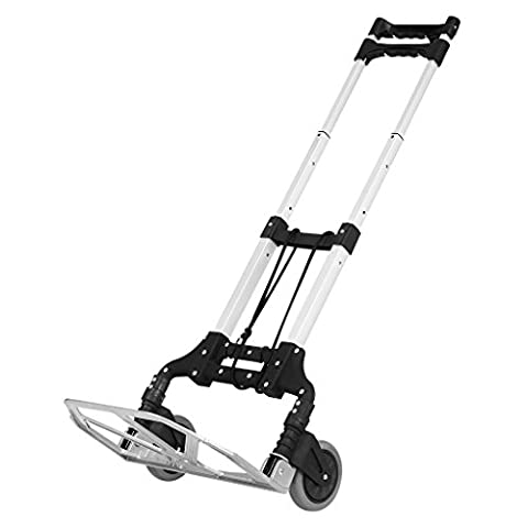 Finether 176.37 lbs Capacity Multi Functional Aluminum Alloy Folding Hand Truck and Dolly for Indoor Outdoor Travel Shopping Office,
