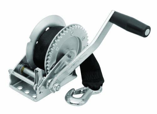 Fulton T1300Z0101 Single-Speed 1300 Lbs. Capacity Trailer Winch with 20-Foot Strap by Fulton