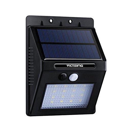 1 Pack Luces Solares LED de Pared Con Sensor Movimiento de VicTsing, Detector Activado Lámpara Exterior para Jardín Patio Camino de Entrada Escaleras,Lluminación de Exterior y Lluminación de