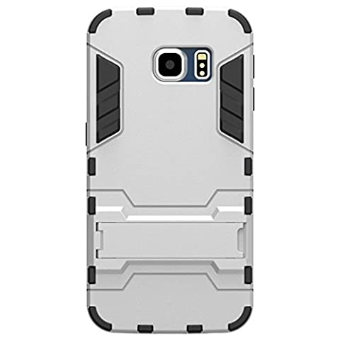 KaTelin Samsung Galaxy S6 Edge PLUS Case - 3 Couche Holster Combo Antichoc [Protection Goutte] Soutien Hard Cover Case pour Samsung Galaxy S6 Edge PLUS - Argent