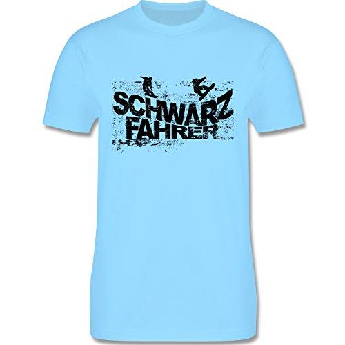 Après Ski - Schwarzfahrer Snowboard - Herren Premium T-Shirt Hellblau