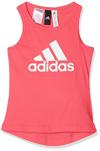 adidas Mädchen Essentials Performance Logo Tanktop, Real Pink/White, 116