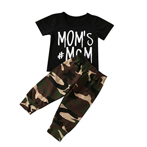 Maschine Schwarz Katalog (SOMESUN Bekleidungssets Baby Jungen T-Shirt Tops Camouflage Hosen (12 Monate, Schwarz))