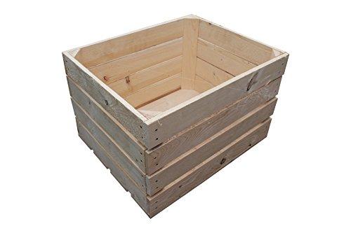 1 Stück NEUE natur Weinkisten Holzkisten Obstkisten Apfelkisten Weinkiste TOP ca. 50 x 40 x 31 cm - 53 L