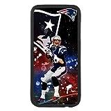 custom-cases Coque Coque TPU pour Tous Les Mobile avec Design de Tom Brady Quarterback Nouveau England Patriots - iPhone X