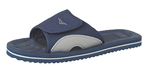 Poolschuhe Badelatschen Unisex Flip-Flops  Gr:- 9 UK/EU 43 Farbe:-Blau/Grau