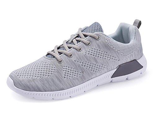Hommes Mode Chaussures décontractées Respirant Chaussures de sport Chaussures de course Lumière Chaussures de loisirs EUR TAILLE 40-46 gray