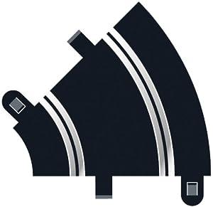 Super Slot 500008202 - 45 grado de la curva R1 - Rennbahnhzubehör 2X Importado de Alemania