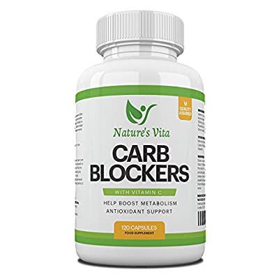 Nature's Vita Carb Blocker Complex | Natural Weight Loss Support, Appetite Suppressant, Fat Breakdown & Immune Boost | White Kidney Bean, Guarana & Vitamin C Supplement | 120 Fat Burner Capsules by Nature's Vita