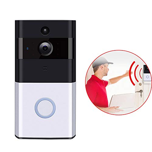 LH Video Doorbell, Wireless Security IP Camera System WiFi Smart Home Surveillance Video Cam mit Two-Way Night Vision PIR Motion Detection Quad Multiplexer