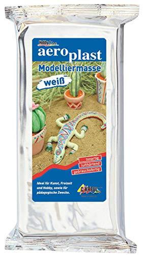 Kreul 761000 - aero plast, gebrauchsfertige Modelliermasse, zum Modellieren im Kunst- und Werkunterricht, im Kindergarben, für Profis und kreative Freizeitgestaltung, 1000 g, weiß