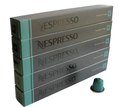 Nespresso 50 Capsulas por capuccino - 50x Fortissio Lungo