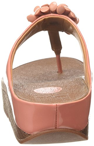 FitFlop Blossom Ii, Sandales Plateforme femme Rose - Pink (Peach 345)