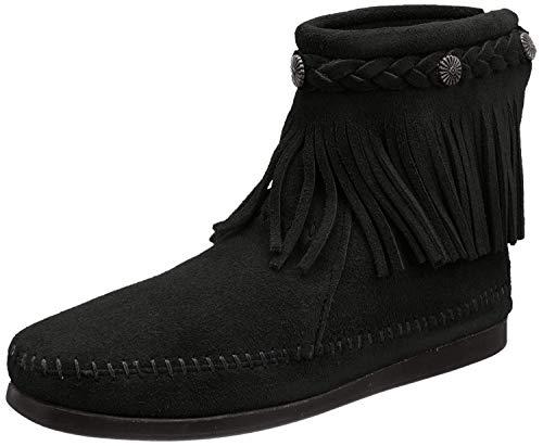 Minnetonka Hi Top Back Zip Boot 299 Damen Stiefel, Schwarz (Black), 37 EU