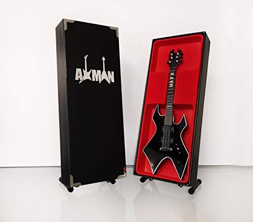Miniatura Guitarra Replica: Mick Thompson por Axman-Modelo Mini Rock Memorabilia réplica de madera miniatura guitarra & Libre Pantalla Soporte (vendedor de Reino Unido)