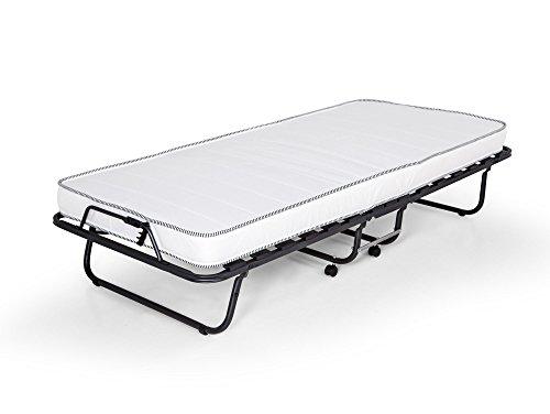 Celine Gästebett klappbar 90X200 cm mit stabilem Metall-Rahmen Klappbett Faltbett bis 100 kg incl. Matratze + Hülle