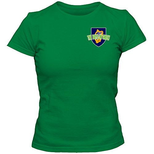 Shirt Happenz Irland WM 2018#5 T-Shirt | Éire | Fußball | Damen | The Boys in Green | Trikot | Nationalmannschaft, Farbe:Hellgrün (Kelly Green L191);Größe:L -