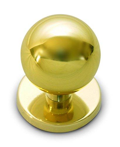 Anzapack 812460J - Pomo Para Puerta De Entrada Esfera En Laton Dorado