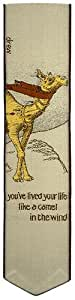 Simon Drew Jacquard Woven Silk bookmark - camel in the wind