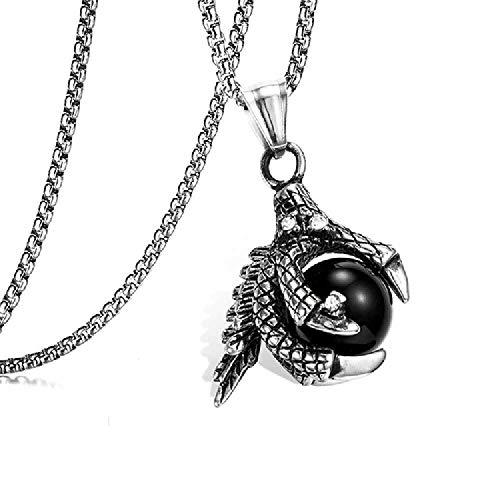 SDFGH O\'M\'Edelstein, Armbrust, Drachen, Anhänger, Titanium, Altmetall, Diamanten, Die Halskette Der Männer Und Frauen Verblasst. Black Pearl.
