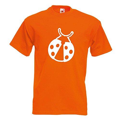 KIWISTAR - Marienkäfer T-Shirt in 15 verschiedenen Farben - Herren Funshirt bedruckt Design Sprüche Spruch Motive Oberteil Baumwolle Print Größe S M L XL XXL Orange