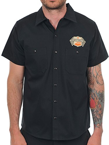 Camicia A Maniche Corte West Coast Choppers Cheating Death Nero (M , Nero)