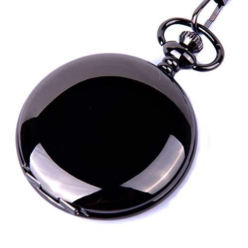 pocket-watch-quartz-movement-black-case-white-dial-arabic-numerals-with-chain-full-hunter-design-pw-