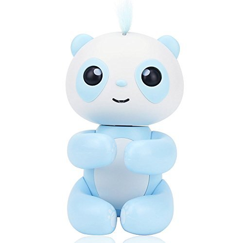 Happy Panda, Baby Panda, Daluo Electronic Interactive Lovely Panda Toys for Christmas, for the Birthday, for a Special Day Presents (Blue)