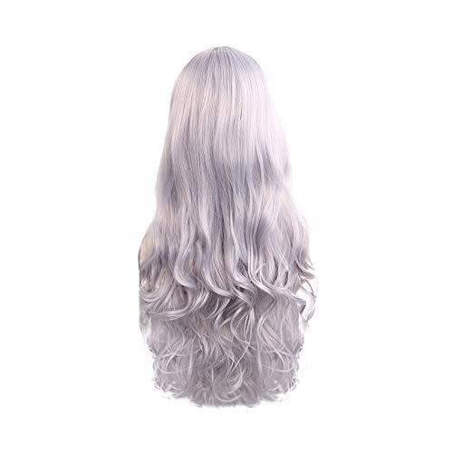 Perruque Longue Blonde Bouclée Cheveux Résistant Chaleur Femme 80cm Perruques Anime Europe Amérique Sunenjoy
