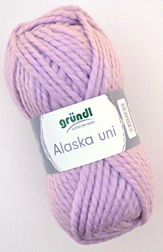 Gründl Alaska Wolle Fb. 15 puder rosé, weiche Wolle zum Stricken und Häkeln -