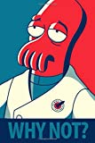 "WHY NOT?: Notebook, Zoidberg, Futurama, Bender, Journal, Diary, (130 Pages, 6"" x 9"", in lines with a margin), College Ruled, Composition Notebook, Cover Soft"