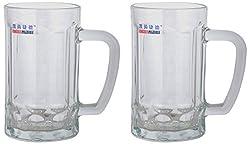 AEVLON Beer Mug, 400 ml, 2-Piece, Transparent,KJ-5816 AM 608