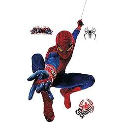JUNMAONO Spiderman Pegatina De Pared/Póster De Pared/PVC Mural/Decoración Niños Bebé (4)