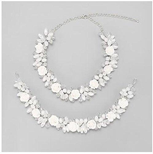 GYJUN Schmuck Halsketten / Haarschmuck Braut-Schmuck-Sets Kristall / Imitierte Perlen Quaste Hochzeit 1 Set Damen Weiß Hochzeitsgeschenke , white