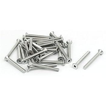 M5x45mm affleurant acier inox 304 vis à six pan creux DIN7991 30pc