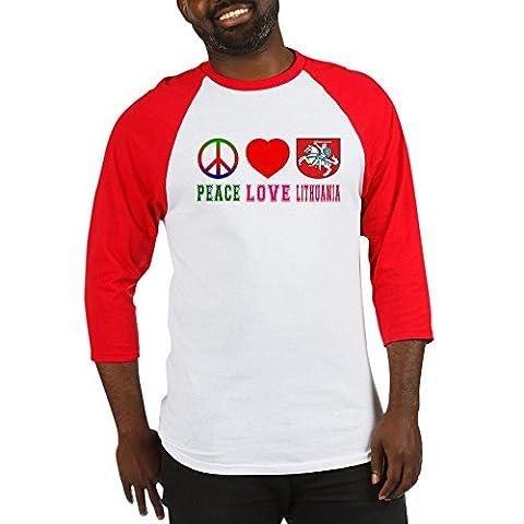 CafePress - Peace Love Lithuania - Cotton Baseball Jersey, 3/4 Raglan Sleeve Shirt