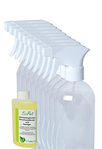 Biolopur   Geruchsneutralisierer   Geruchsentferner   Spray   Reinigungsmittel Urin, Haustier etc. 100ml KONZENTRAT ergibt 1L Fertiglösung + 10 Stk Sprühflaschen (leer)