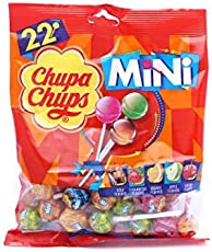 Chupa Chups Mini 22 Assorted Lollipops Packet, 132g