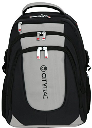 Laptop-Rucksack-Backpack-Laptopfach-geeignet-fr-bis-zu-396-cm-156-Zoll-Grau