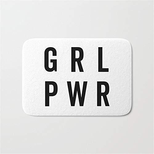 """Pzeband GRL PWR Girl Power Quote Doormat Bath Door Mat (15.7"""" x 23.6"""" Inches)"""