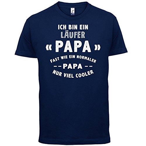 Ich bin ein Läufer Papa - Herren T-Shirt - 13 Farben Navy