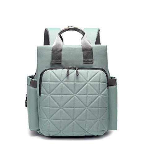 LMMMSJB Mode Mama Rucksack, Multifunktions große Kapazität Mutter und Baby Tasche, Mutter und Kind Kit, äußere große Windel Ersatztasche, wasserdichte Reise Wickeltasche (Farbe : Mint green) - Kit Mint
