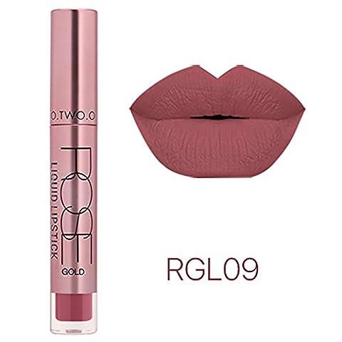 Bluestercool 12 Couleurs Rouge à Lèvres, Mat Liquide Gloss Lipstick Longue Durée Lip Cosmétiques (I)
